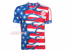 Primal Wear Cycling Short Jersey Short Sleeves -USA Team Red  Blue