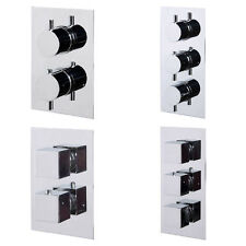 Choice of 4 Concealed Chrome Thermostatic Bathroom Shower Mixer Valve Tap