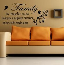 **Family Inspirational Wall Art - Wall Quote Sticker - Art Decor