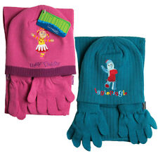 Kids Boys Girls In The Night Garden Hat Scarf & Glove Set Pink Blue 1-4 Years