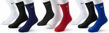Nike SX4207 SX4827 Dri-FIT Mens 3/pk Crew Socks Size L Black White Blue Red Navy