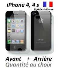 Lots films protection, protecteur d'écran AVANT + ARRIERE Apple iPhone 4 et 4s