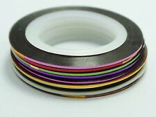 10 Rolls Striping Tape Line Nail Art Sticker Self adhesive 0.8mm Pick Your Color