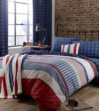 Catherine Lansfield Vintage Stars And Stripes Duvet Set and Accessories