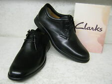 Clarks General Walk5 Black Leather Smart Lace Up Shoes