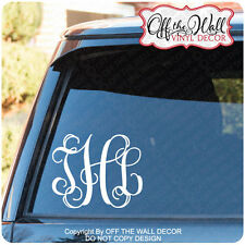 MONOGRAM INITIALS  Car/Truck Laptop, Vinyl Decal Sticker