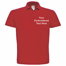 Polo Shirt Personalised Embroidered Custom  - Mens/Womans - Name/Business/Work