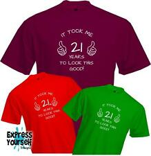 21 YEARS TO LOOK THIS GOOD-  BIRTHDAY T Shirt - Present Gift Fun - Quality - NEW