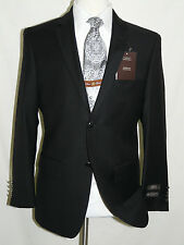 Black Blazer All Wool and Cashmere Two Button Side Vents size 38,40,42,44,46