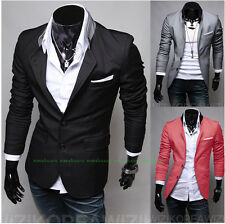 Hot! Gentleman taste of the new men 's solid color personality suits
