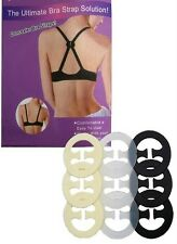 9 ,18 Bra Clips  Bra Strap Holders  Perfect Cleavage Control  BLACK, WHITE, NUDE