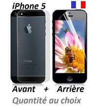 Lots films protection, protecteur d'écran AVANT + ARRIERE Apple iPhone 5, 5G, 5C