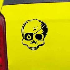 """Ace of Spades Eyepatch Skull Decal Sticker - 24 Colors - 3.75"""" x 4.5"""" [ebn01000]"""