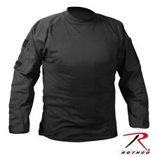 ROTHCO US ARMY USMC MILITARY STEALTH BLACK COMBAT HUNTING PAINTBALL L/S SHIRT