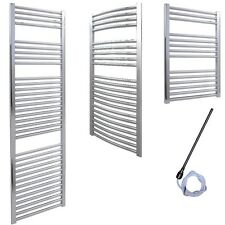 Solaire Prefilled PTC Electric Chrome Heated Towel Rail Bathroom Radiator Warmer