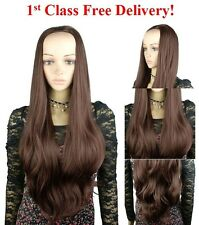 Ladies Fashion Extra Long 3/4 Fall Half Wig Wavy Layered Hairpiece 81321