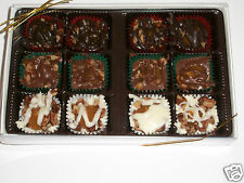 12 pc box turtles  cashew or pecans white milk or dark chocolate mixed boxes