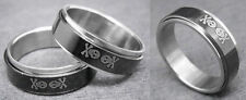 R057P Stainless Steel Spin Ring Men Skull Black Style You Pick Ring Size