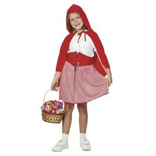 Girls Little red riding hood fancy dress costume Kids outfit World Book Day