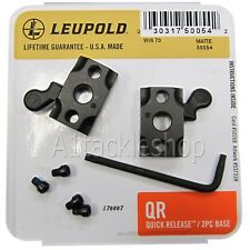 Leupold Quick Release QR 2 Piece Scope Mount Bases - Choose Rifle Model