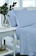 Catherine Lansfield Cornflower Blue Non Iron Percale Sheets & Optional P/cases