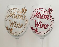 Personalised Birthday Gifts for Mum  - Butterfly Design Wine Champagne Glasses
