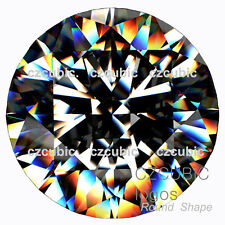 CUBIC ZIRCONIA BEST SUPER QUALITY LOOSE ROUND CZ /  7 STARS CLEAR CZ USA SHIPPER