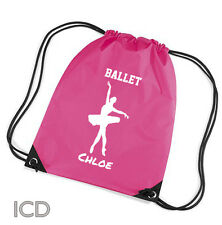 Personalised Ballet Dance Gym/School/Sports Bag. Personalised Great Gift for Her