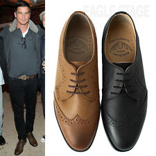 EagleStage MENS 'Rookie' Wingtip Lace-Up Oxford Brogue Shoes US 6 7 8 9 10 11