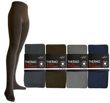 Ladies Plain Dark Coloured Thick Thermal Tights Women sizes S M L XL & XXL
