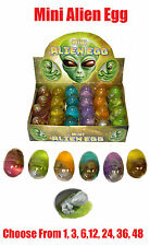 BABY ALIEN EGG Embryo Goo Birthpod Party Goodie Loot Bag Filler Favour Toys Play