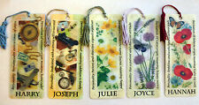 History & Heraldry 3D Personalised Bookmarks - Names: H - J
