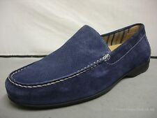 Men's Sioux Gianni Blue Suede / Tan Leather Casual Slip-on Shoes UK 7.5-11 G