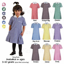Girl's School Gingham Summer Dress Age 4 5 6 7 8 9 10 11 12 13 14 15 16 17 18 20