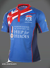 Heroes Challenge UK Help for Heroes Rugby Shirt  (S-6XL) Army / Navy / RAF