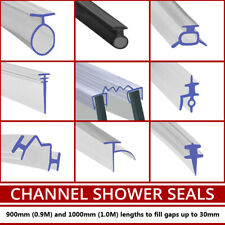 Shower Seal For Bi-Fold Channel Profile Folding Glass Door Strip White or Clear