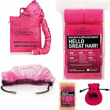 20 VELCRO SLEEP IN SNOOZE HAIR ROLLERS + HOOD DRYER + FREE HAIR NET  DVD & CLIPS