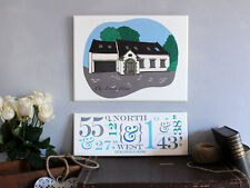 Chic & Shabby Personalised New Home House Portrait, Wedding Venue Illustration