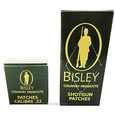 Bisley Gun Cleaning Patches - Choose .22 Rifle (75) or Shotgun (25)