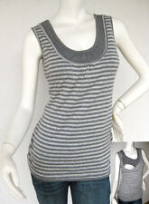 ELLE Maternity Clothes Nursing Top Breastfeeding Top GREY NEW Pregnancy Shirt
