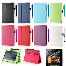 3 in 1 PU Leather Case Cover Protecto??r Accessory Bundles For Kindle Fire HD 7""
