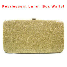 New Lady Pearlescent PU Leather Card Holder Bag Long Clutch Handbag Purse Wallet