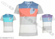 MENS FASHIONABLE STRIPED CROSSHATCH T-SHIRT WITH POCKET DETAIL SUMMER MILWAIN
