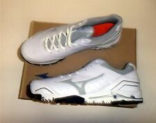 Mizuno Speed Trainer 4 Men's Baseball Turf Shoes NIB White/Grey Size 10.5