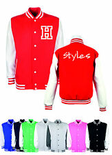 H STYLES ONE DIRECTION KIDS VARSITY JACKET ALL COLORS