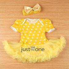 Baby Outfits Infant One-Piece Girl Top+Tutu Skirt Dress Jumpsuit Romper+Headband