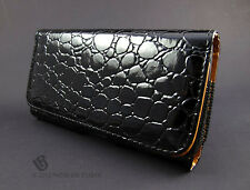 Black Snake Look Leather Pouch Case Belt Clip Holster Accessory CTS Samsung