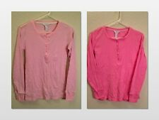 NEW CHARTER CLUB INTIMATES RIBBED COTTON LONG SLEEVE PAJAMA TOP