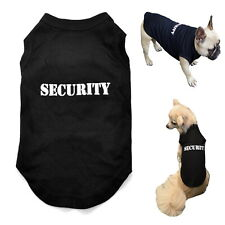 Dog T Shirt SECURITY Black XS- XLarge Breeds-Puppy Staffy Chihuahua Rottweiler
