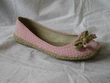 "LADIES SPOT ON PINK  POLKA DOT CANVAS SHOES ""F2200"""